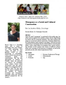 Menopause as a Social and Cultural Construction