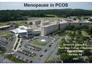 Menopause in PCOS Infertility Treatment in PCOS