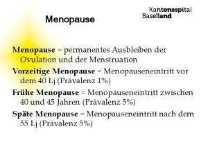 Menopause Vorzeitige Menopause Frühe Menopause Späte Menopause