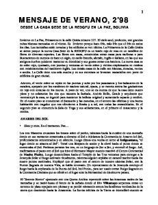 MENSAJE DE VERANO, 2 98
