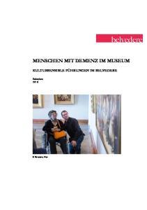 MENSCHEN MIT DEMENZ IM MUSEUM