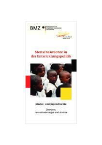 Menschenrechte in der Entwicklungspolitik Kinder- und Jugendrechte