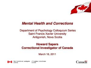 Mental Health and Corrections