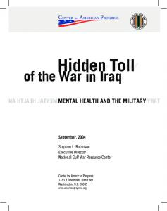 MENTAL HEALTH AND THE MILITARY