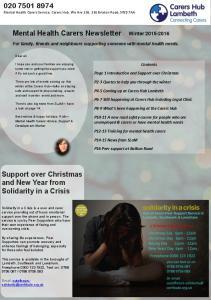 Mental Health Carers Newsletter