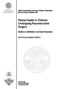 Mental Health in Children Undergoing Reconstructive Surgery