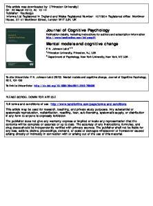 Mental models and cognitive change