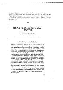 MENTAL MODELS OF POPULATION