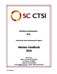 Mentee Handbook 2016