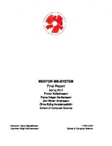 MENTOR MB-SYSTEM Final Report