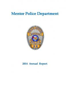 Mentor Police Department Annual Report