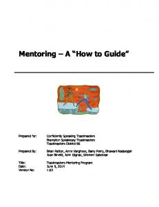 Mentoring A How to Guide