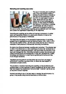 Mentoring and Coaching case study