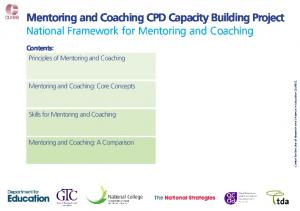 Mentoring and Coaching CPD Capacity Building Project