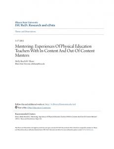 Mentoring: Experiences Of Physical Education Teachers With In-Content And Out-Of-Content Mentors