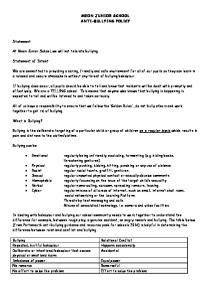 MEON JUNIOR SCHOOL ANTI-BULLYING POLICY