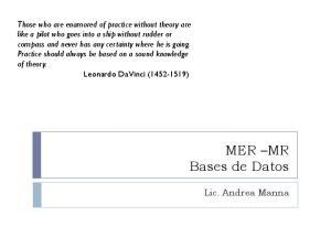 MER MR Bases de Datos