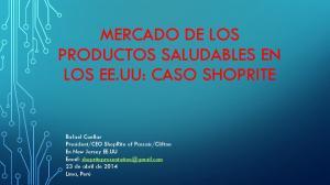 MERCADO DE LOS PRODUCTOS SALUDABLES EN LOS EE.UU: CASO SHOPRITE