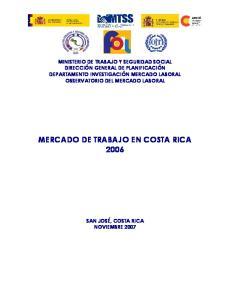MERCADO DE TRABAJO EN COSTA RICA 2006