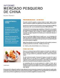 MERCADO PESQUERO DE CHINA