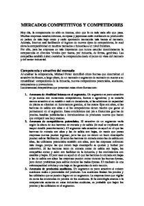 MERCADOS COMPETITIVOS Y COMPETIDORES