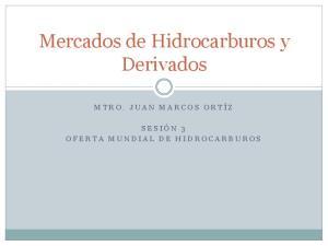 Mercados de Hidrocarburos y Derivados