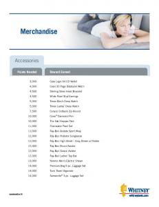 Merchandise. Accessories