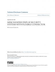 MERCHANDISE DISPLAY SECURITY SYSTEMS WITH FLEXIBLE CONNECTOR