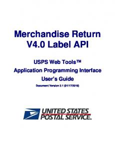 Merchandise Return V4.0 Label API