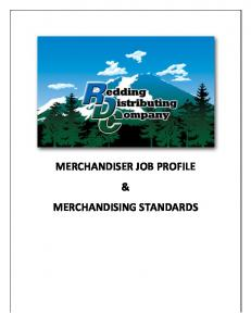 MERCHANDISER JOB PROFILE & MERCHANDISING STANDARDS