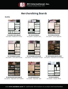 Merchandising Boards