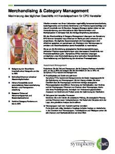 Merchandising & Category Management