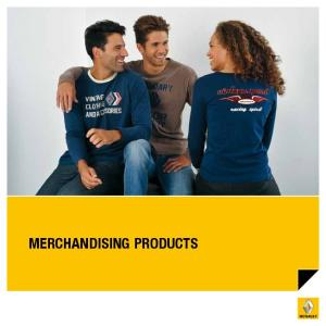 MERCHANDISING PRODUCTS