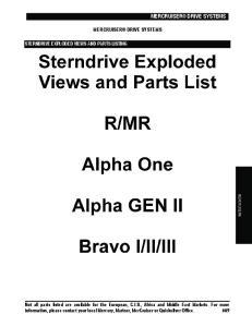 MERCRUISER DRIVE SYSTEMS