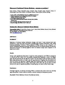 Mercury in Traditional Tibetan Medicine panacea or problem?