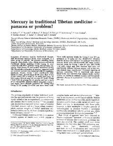 Mercury in traditional Tibetan medicine - panacea or problem?