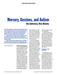 Mercury, Vaccines, and Autism