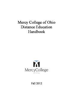 Mercy College of Ohio Distance Education Handbook