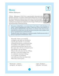 Mercy. -William Shakespeare