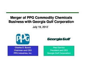 Merger of PPG Commodity Chemicals Business with Georgia Gulf Corporation
