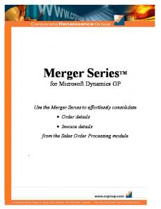 Merger Series TM for Microsoft Dynamics GP