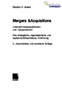 Mergers &Acquisitions