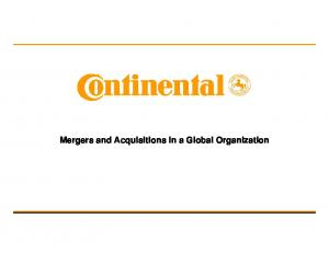 Mergers and Acquisitions in a Global Organization