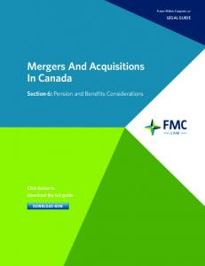 Mergers And Acquisitions In Canada