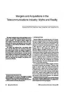Mergers and Acquisitions in the Telecommunications Industry: Myths and Reality