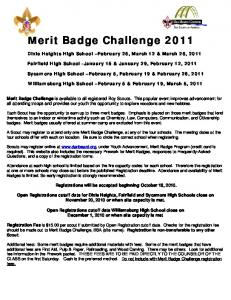 Merit Badge Challenge 2011