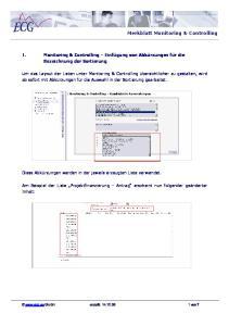 Merkblatt Monitoring & Controlling