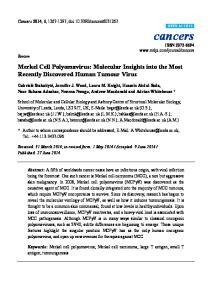 Merkel Cell Polyomavirus: Molecular Insights into the Most Recently Discovered Human Tumour Virus