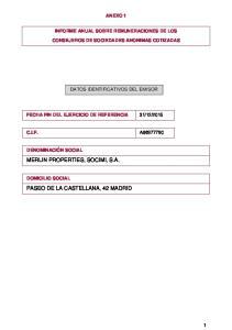MERLIN PROPERTIES, SOCIMI, S.A