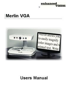 Merlin VGA. Users Manual